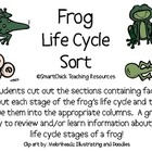 Frog Life Cycle Sort Packet