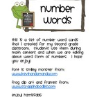 Frog Number words cards to 1000