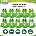 Frog Numbers Clipart — Over 30 Graphics!