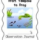 Frog Observation Journal