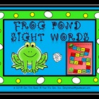 Frog Pond Sight Word Game Boards