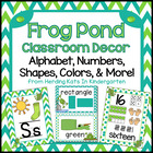 Frog Pond Themed Classroom Poster Bundle