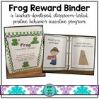 Frog Reward Binder (Positive Behavior Incentive Program)