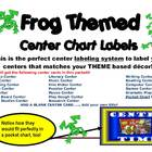 Frog Theme Based Center Signs and Labeling System