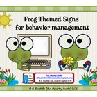 Frog Theme Behavior Management Signs
