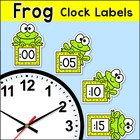 Labels - Frog Theme Clock Labels and Student Worksheets -