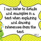 "Frog Theme Common Core Fourth ELA Standards ""I Can"""