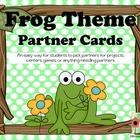 Frog Theme Partner Cards