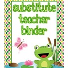 Frog Theme Substitute Binder