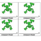 Frog Theme homework folder labels