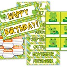 Frog Themed Birthday Display // Poster
