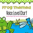 Frog Themed Clothespin Voice Level Chart