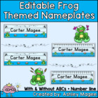Frog Themed Nameplate Deskplate Nametags