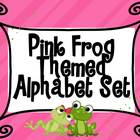 Frog Themed Pink Alphabet Set