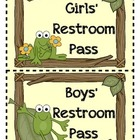 Frog Themed Restroom Pass