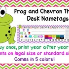 Frog and Chevron Theme Desk Nametags
