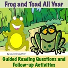 Frog and Toad All Year - A guided reading unit