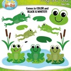 Frog and Toad Clipart Set  Includes 30 Graphics!