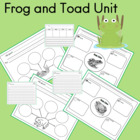 Frog and Toad  Unit for PreK to 1st Grade