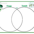 Frog and Toad Venn Diagram to help compare and contrast
