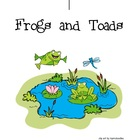 Frog and Toad literacy unit