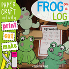 Frog on a Log Craftivity - Word Families