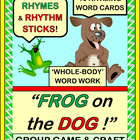 """Frog on the Dog!"" - Active Game and Craft with Rhyming Words!"