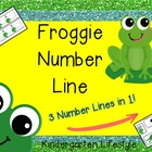 Froggie Number Line (3 different lines in 1)