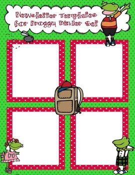 Froggy Newsletter Template to Accompany Froggy Binder Set