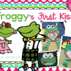 Froggy&#039;s First Kiss Valentine or Anytime Art, Math, and Wr