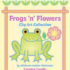 Frogs &#039;n&#039; Flowers Clip Art Collection (personal or commerc