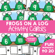 Frogs on a Log - Math Center Write n Wipe Cards - Addition