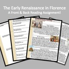"""Front & Back"" Early Renaissance in Florence Reading & Rev"