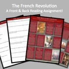 """Front & Back"" French Revolution Student Reading & Review"