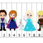 Frozen themed Number Sequence Puzzle #1.  Early math activ