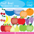 Fruit Bowl - Clip Art Graphics for Personal and Commercial Use