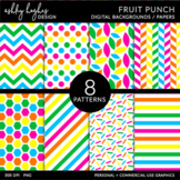 Fruit Punch {12x12 Digital Papers for Commercial Use}