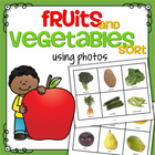 Fruit and Vegetables Sort - Real Photos - Center or Cut and Paste
