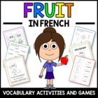Fruits in French - vocabulary sheets, worksheets and match