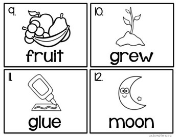 Fruity Clues Read and Write the Room (-ui, -ue, -u-e)