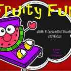 "Fruity Fun Literacy Center Treasures Reading  ""r"" controll"
