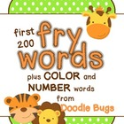Fry Flash Cards plus Color Words and Number Words zero-twenty