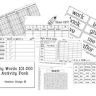 Fry Second Hundred Words 101-200 Activity Pack!