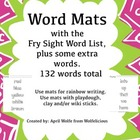 Fry Sight Word List Word Mats