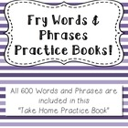 Fry Words and Phrases Practice Book - All 600 Words & Phrases
