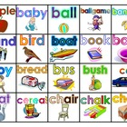 Fry's 100 Picture Nouns (Voc. Words) Study Mats (20 Words