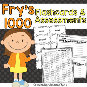 Fry's 1000 Word Pack with Flashcards/Word Wall and Assessments
