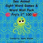 Fry's 1st 100 Ocean Themed Sight Word Games, Word Wall Pac