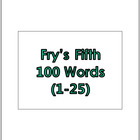 Fry's Fifth 100 Vocabulary Sight Words (1 - 100) PowerPoin