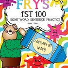 Fry's First 100 SIGHT WORD SENTENCE PRACTICE BUNDLE